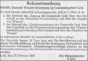 Südtondern Tageblatt, 27.2.1956