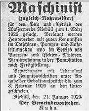 Nordfriesische Rundschau, 22.1.1929